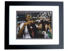 Kevin Ware Signed - Autographed Louisville Cardinals 8x10 inch Photo BLACK CUSTOM FRAME - 2013 NCAA National Champions - Guaranteed to pass PSA or JSA