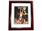 Keith Van Horn Signed - Autographed New Jersey Nets 8x10 inch Photo MAHOGANY CUSTOM FRAME - Guaranteed to pass PSA or JSA