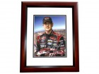 Kurt Busch Signed - Autographed Racing 8x10 inch Photo MAHOGANY CUSTOM FRAME - Guaranteed to pass PSA or JSA