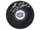 Guy Lafleur Signed Montreal Canadians Logo Hockey Puck