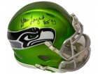 Steve Largent Signed Seattle Seahawks Blaze Riddell Mini Helmet w/HOF'95