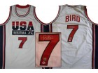 LARRY BIRD SIGNED AUTHENTIC STYLE OLYMPIC JERSEY