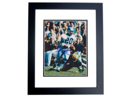 Lem Barney Signed - Autographed Detroit Lions 8x10 inch Photo BLACK CUSTOM FRAME - Guaranteed to pass PSA or JSA - Hall of Fame - 7x Pro Bowler
