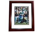 Lem Barney Signed - Autographed Detroit Lions 8x10 inch Photo MAHOGANY CUSTOM FRAME - Guaranteed to pass PSA or JSA - Hall of Fame - 7x Pro Bowler