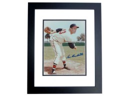 Lew Burdette Signed - Autographed Milwakee Braves 8x10 inch Photo BLACK CUSTOM FRAME - Guaranteed to pass PSA or JSA - Deceased 1957 World Series MVP