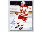 Gary Leeman Calgary Flames Signed 8X10 Photo  Photo