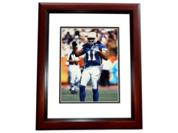 Larry Fitzgerald Signed - Autographed Arizona Cardinals 11x14 inch Photo MAHOGANY CUSTOM FRAME - Guaranteed to pass PSA or JSA