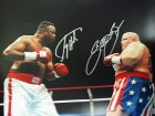 LARRY HOLMES & BUTTERBEAN SIGNED 16x20 PHOTO