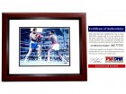 Larry Holmes Signed - Autographed Boxing 8x10 Photo MAHOGANY CUSTOM FRAME - PSA/DNA Certificate of Authenticity (COA)