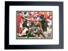 Larry Johnson Signed - Autographed Kansas City KC Chiefs 8x10 Action Photo BLACK CUSTOM FRAME - Guaranteed to pass PSA or JSA - Horizontal