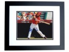 Logan Morrison Signed - Autographed Florida Marlins 8x10 Photo BLACK CUSTOM FRAME