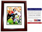 Lawrence Taylor Signed - Autographed New York Giants 8x10 inch Photo MAHOGANY CUSTOM FRAME - PSA/DNA Certificate of Authenticity (COA)