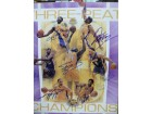 Los Angeles Lakers (Three-Peat Poster) Signed Los Angeles Lakers Three-Peat 16x20 Poster by Kobe Bryant, Shaquille O'Neal, Samaki Walker, Derek Fisher, Robert Horry, Rick Fox, & Lindsey Hunter.