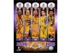 Los Angeles Lakers (2010-11) Signed 8x10 By Lamar Odom, Derek fisher, Kobe Bryant, Pau Gasol and Ron Artest