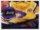 Los Angeles Lakers (Vlade Divac / Anthony Miller) Signed 8x10 Photo By Vlade Divac and Anthony Pig Miller
