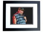 Larry the Cable Guy Signed - Autographed comedian 8x10 inch Photo BLACK CUSTOM FRAME - Guaranteed to pass PSA or JSA