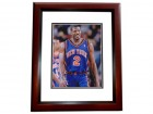 Larry Johnson Signed - Autographed New York Knicks 8x10 Photo MAHOGANY CUSTOM FRAME