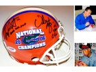 Chris Leak AND Urban Meyer Signed - Autographed Florida Gators UF Mini Helmet with 2006 CHAMPS inscription and Logo - PSA/DNA Certificate of Authenticity (COA)