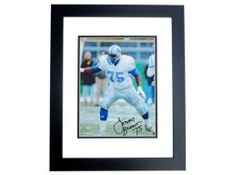 Lomas Brown Signed - Autographed Detroit Lions 8x10 inch Photo BLACK CUSTOM FRAME - Guaranteed to pass PSA or JSA