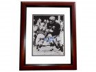 Lou Creekmur Signed - Autographed Detroit Lions 8x10 inch Photo MAHOGANY CUSTOM FRAME - Guaranteed to pass PSA or JSA - Deceased Hall of Famer
