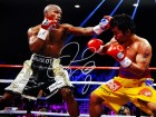 Floyd Mayweather Jr. Signed Boxing Fighting Manny Pacquiao 16x20 Photo