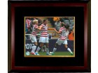 Abby Wambach signed 16X20 Photo Celebration vs New Zealand 2012 London Olympics Custom Framing - LOJO Hologram (Women's Soccer T
