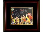 Franklin Edwards signed Philadelphia 76ers 16x20 Photo Custom Framed 1983 NBA Champions w/ 6 Signatures vs Lakers