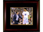 Jahlil Okafor signed Duke Blue Devils 16x20 Photo #15 Custom Framing (with Mike Krzyzewski)