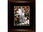 Bob Lilly signed Dallas Cowboys 8X10 Photo Custom Framed (white jersey)