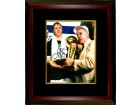 Larry Bird signed Boston Celtics 8x10 Photo Custom Framed (trophy with Red Auerbach)- BAS-Beckett Hologram