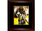 Shaquille O'Neal signed Los Angeles Lakers 8x10 Photo Custom Framed (vs Spurs)