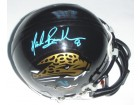 Mark Brunell Signed - Autographed Jacksonville Jaguars Authentic Mini Helmet (Teal Autograph) - Guaranteed to pass PSA or JSA