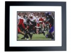 Montee Ball Signed - Autographed Wisconsin Badgers 8x10 inch Photo BLACK CUSTOM FRAME - Guaranteed to pass PSA or JSA