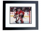 Martin Brodeur Signed - Autographed New Jersey Devils 8x10 TEAM CANADA Photo BLACK CUSTOM FRAME - Guaranteed to pass PSA or JSA - 2x Gold Medal Winner