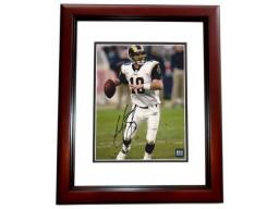 Marc Bulger Signed - Autographed St. Louis Rams 8x10 inch Photo MAHOGANY CUSTOM FRAME - Guaranteed to pass PSA or JSA