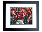 Matt Cassel Signed - Autographed Kansas City Chiefs 8x10 inch Photo BLACK CUSTOM FRAME - Guaranteed to pass PSA or JSA