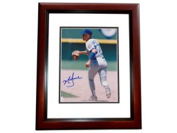 Mark Grace Signed - Autographed Chicago Cubs 8x10 inch Photo MAHOGANY CUSTOM FRAME - Guaranteed to pass PSA or JSA