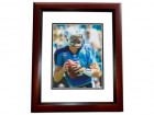 Matt Hasselbeck Signed - Autographed Tennessee Titans 8x10 inch Photo MAHOGANY CUSTOM FRAME - Guaranteed to pass PSA or JSA