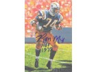 "Ron Mix Autographed San Diego Chargers Goal Line Art Card blue w/""HOF 1979"""