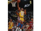 MAGIC JOHNSON SIGNED 16X20 PHOTO - LAYUP VS. CLIPPERS