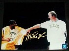 MAGIC JOHNSON SIGNED 8X10 PHOTO - (BIRD RETIREMENT NIGHT)