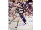 MAGIC JOHNSON SIGNED 8X10 PHOTO - VS. LARRY BIRD POST UP