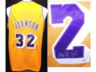Magic Johnson Autographed Los Angeles Lakers Custom Jersey with PSA/DNA Authenticity