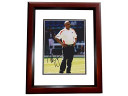 Marvin Lewis Signed - Autographed Cincinnati Bengals 8x10 inch Photo MAHOGANY CUSTOM FRAME - Guaranteed to pass PSA or JSA