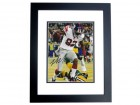 Mario Manningham Signed - Autographed New York Giants 8x10 inch Photo BLACK CUSTOM FRAME - Guaranteed to pass PSA or JSA