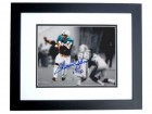 Mercury Morris Signed - Autographed Miami Dolphins 8x10 inch Photo with 17-0 Inscription BLACK CUSTOM FRAME - Guaranteed to pass PSA or JSA