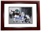 Mercury Morris Signed - Autographed Miami Dolphins 8x10 inch Photo with 17-0 Inscription MAHOGANY CUSTOM FRAME - Guaranteed to pass PSA or JSA