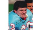 Mike Munchak Signed - Autographed Houston Oilers 8x10 Photo - HALL OF FAME 2001 INSCRIPTION