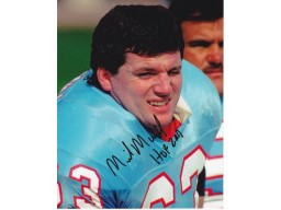 Mike Munchak Signed - Autographed Houston Oilers 8x10 inch Photo - Guaranteed to pass PSA or JSA - HALL OF FAME 2001 INSCRIPTION
