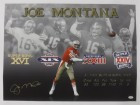 Joe Montana Autographed San Francisco 49ers 30x24 Canvas JSA